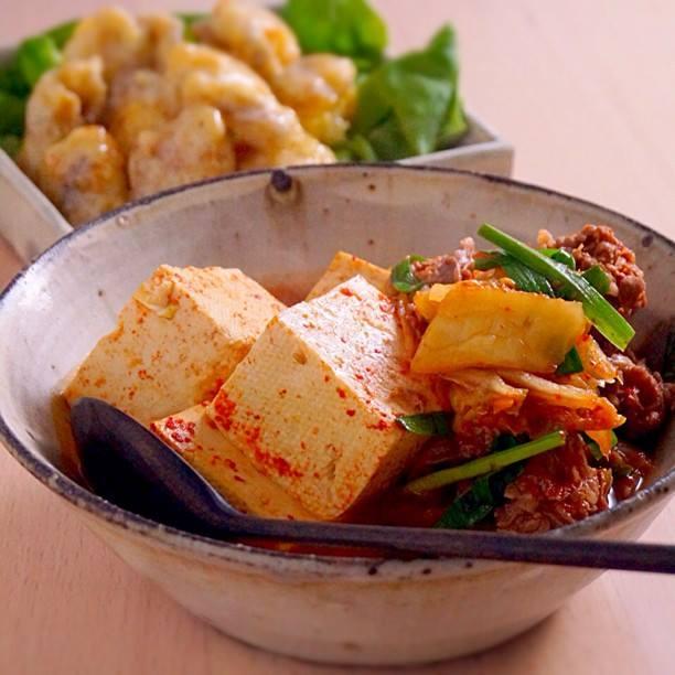 すぐできてごはんがすすむ!キムチ肉豆腐