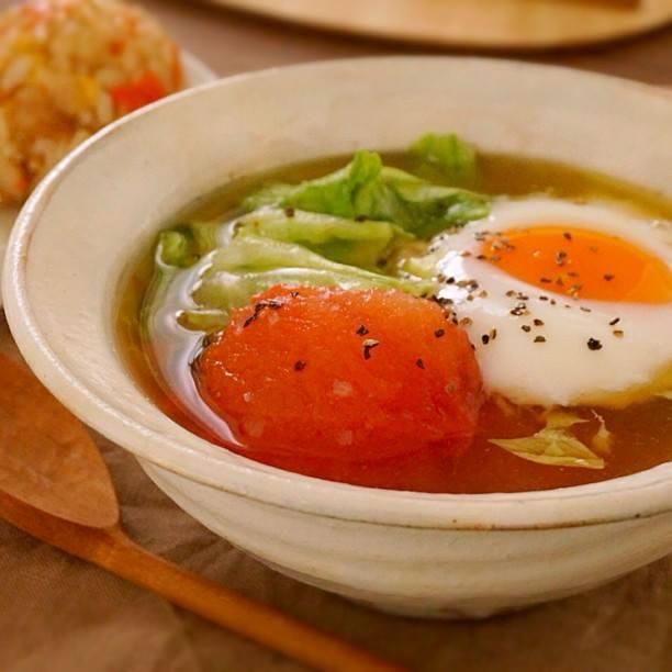 レタスとトマトとたまごのスープ | あさこ食堂