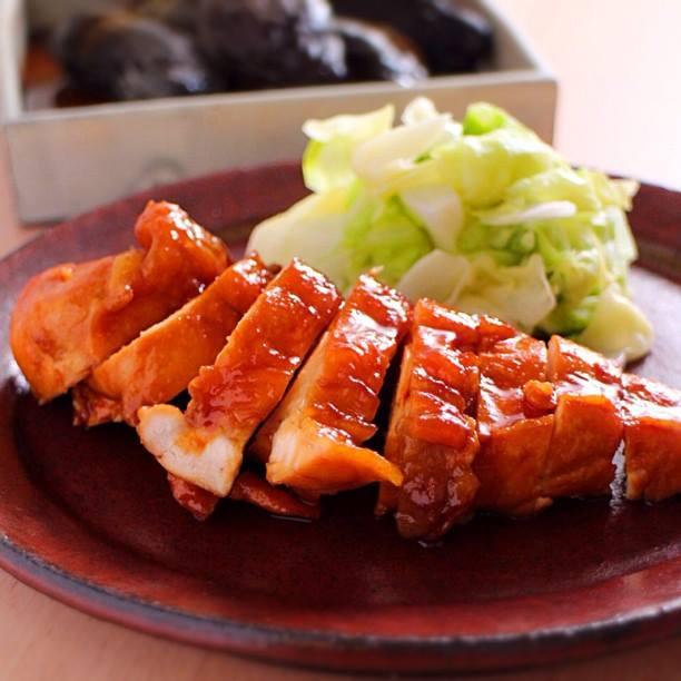 鶏むね肉のしょう油煮
