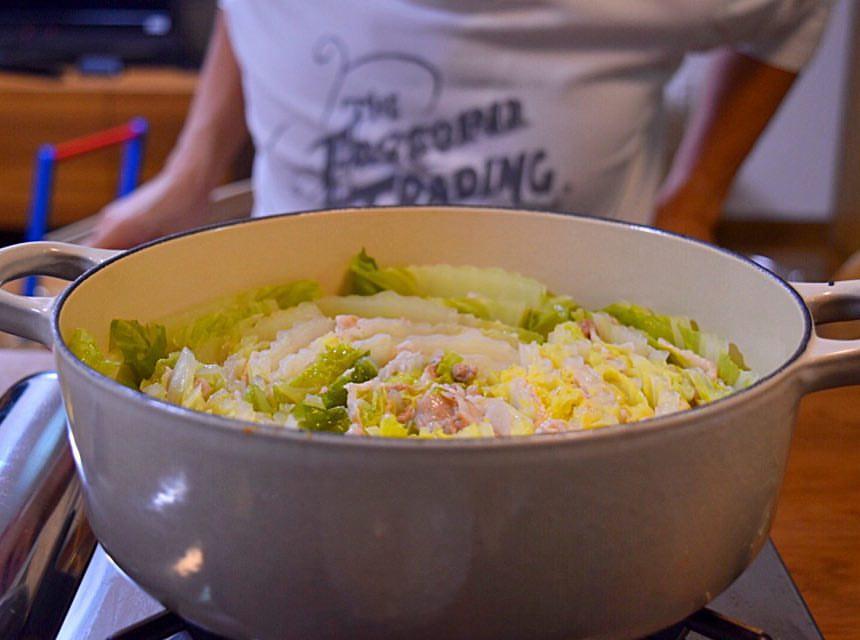 白菜と豚ばら肉のミルフィーユ鍋