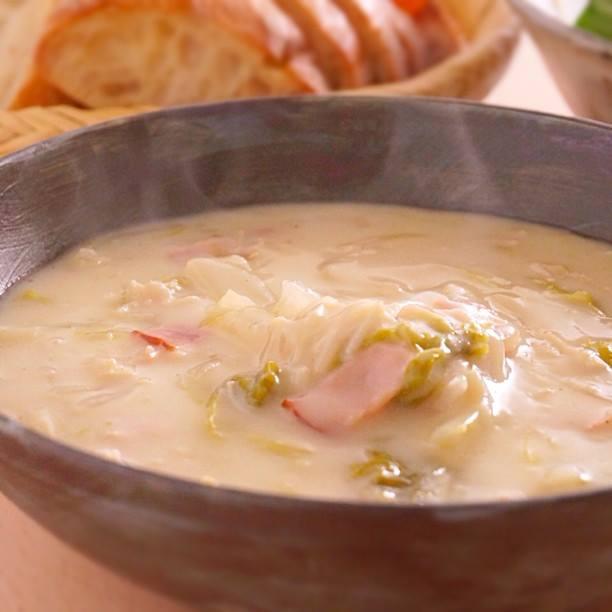 白菜とろとろ、白菜とベーコンのホワイトシチュー | あさこ食堂