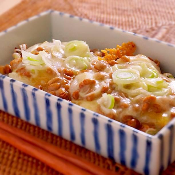 カリカリとろ〜り、納豆ねぎチーズ餅 | あさこ食堂