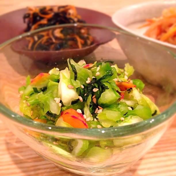 塩もみ野菜