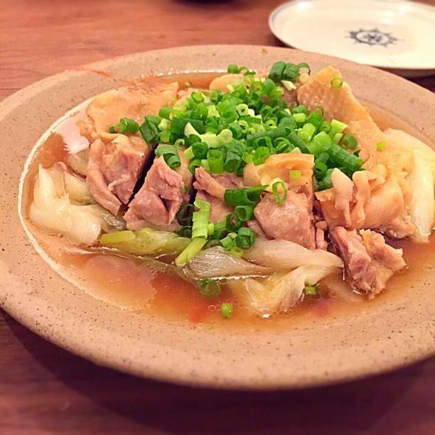 鶏肉と葱のフライパン蒸し