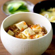 辛くないお野菜たっぷり、和風麻婆豆腐