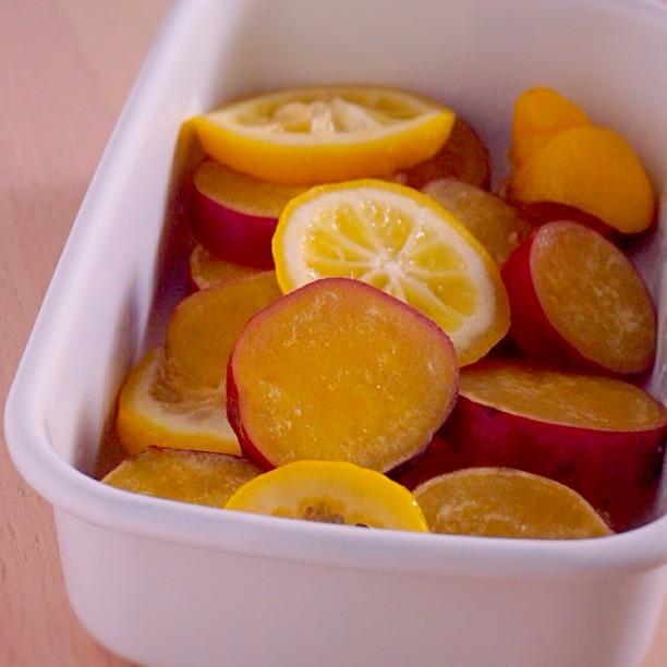 【じょうびさい】さっぱりとした口あたり、さつまいものレモン煮