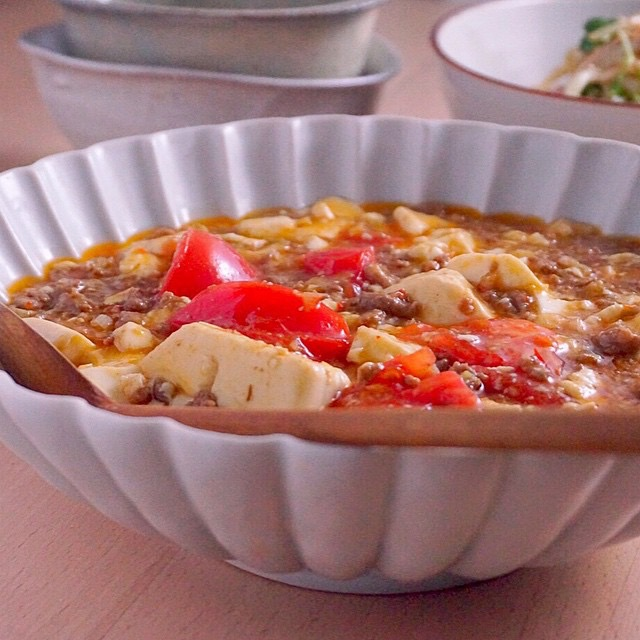 麻婆トマト豆腐