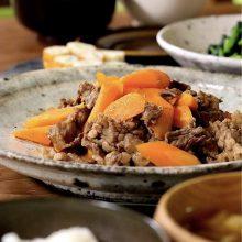 にんじんと牛肉の炒め煮
