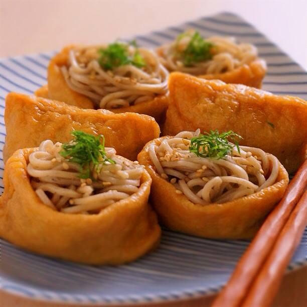 いなり寿司の蕎麦バージョン!蕎麦いなり