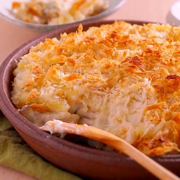 チーズなしホワイトソースを楽しむ、マカロニグラタンのつくり方