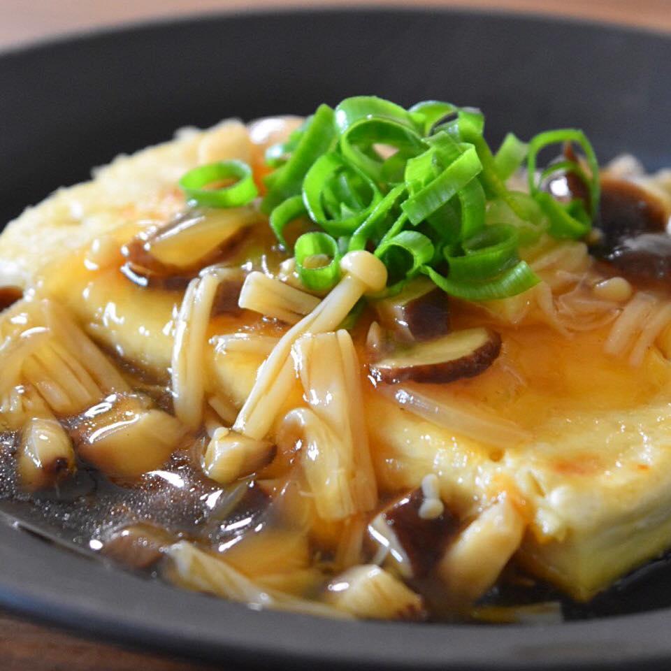 豆腐ステーキの和風きのこあんかけ