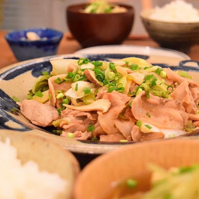 豚肉と白菜漬けの炒めもの