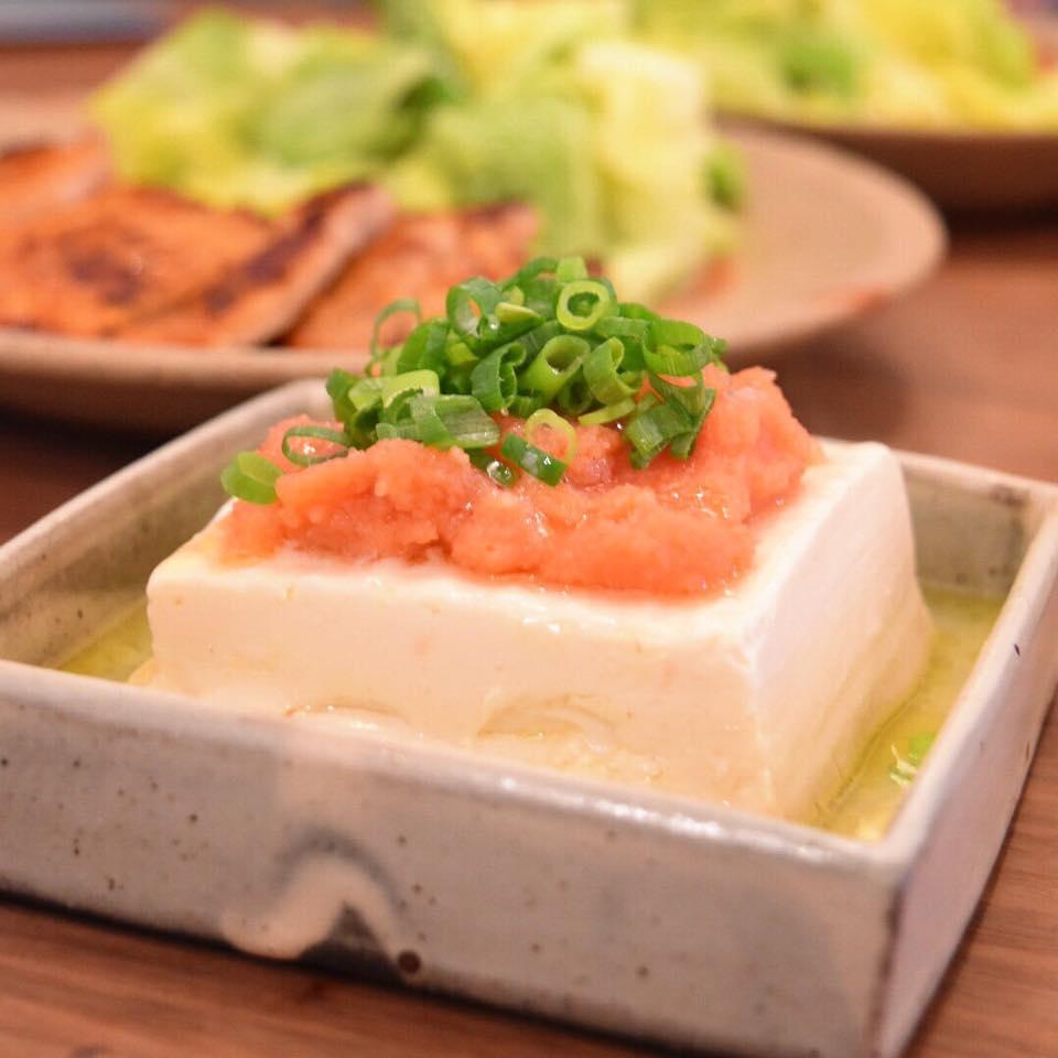 明太バター豆腐