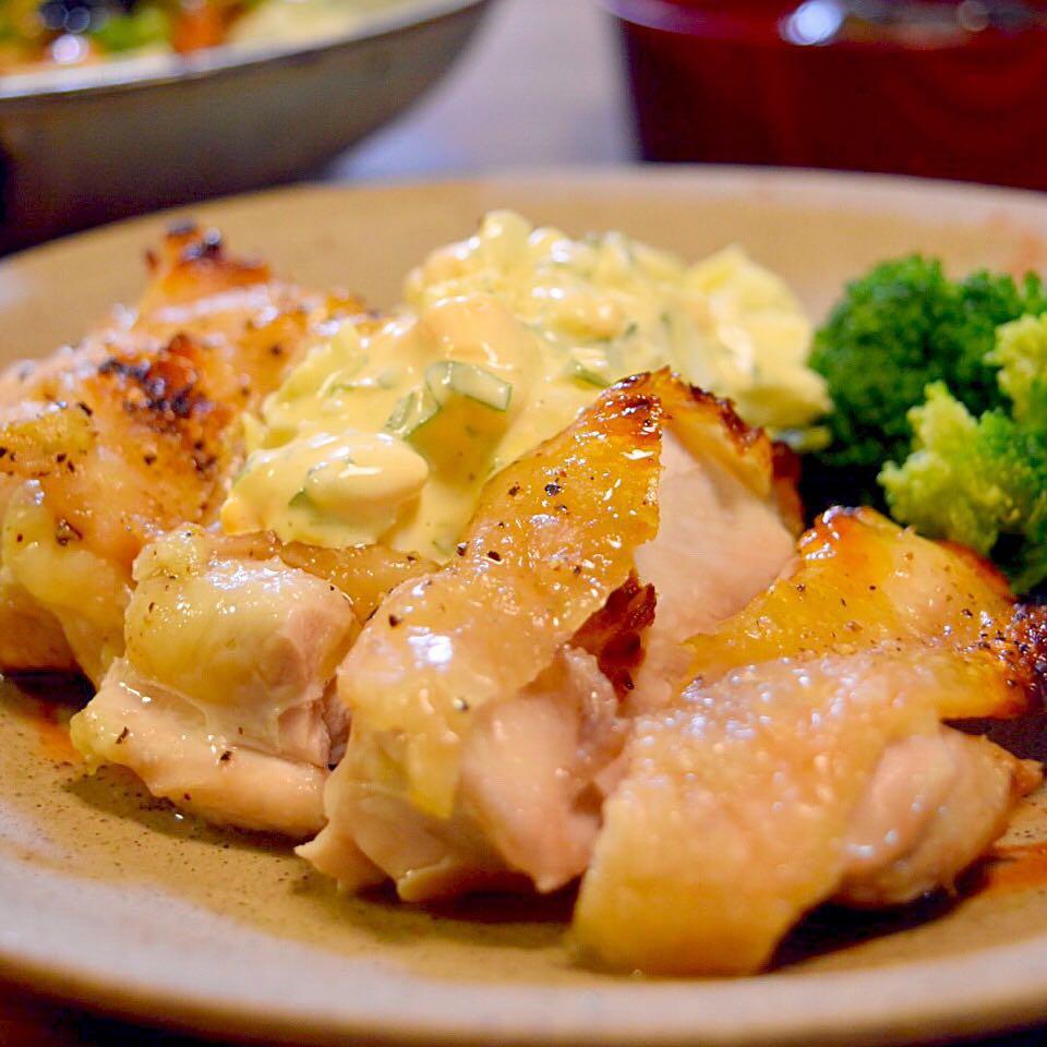 焼き鶏タルタルソースがけ