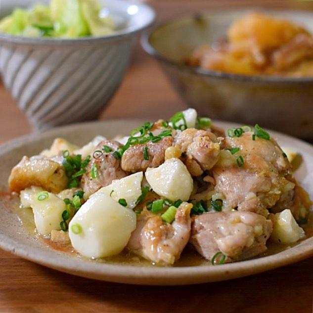 鶏肉と長いものナンプラー炒め
