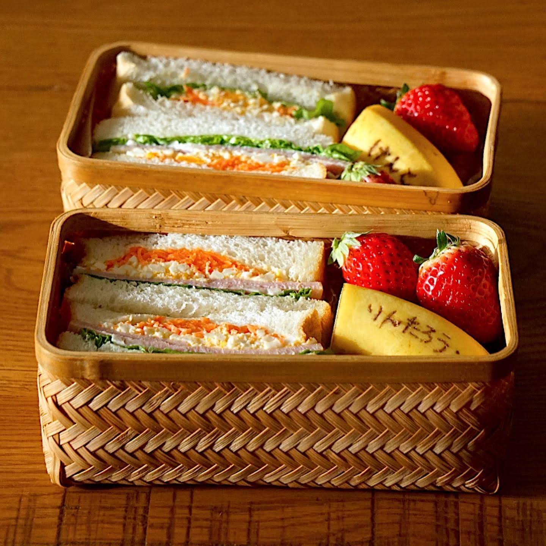 きょうの曲げわっぱ(でない)べんとう、サンドイッチ弁当[2021.2.18]