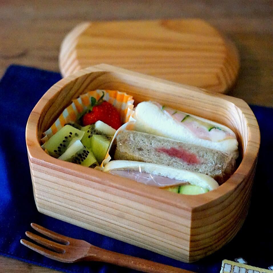 2018.5.24こどもべんとうメモ。くるくるサンドイッチ弁当