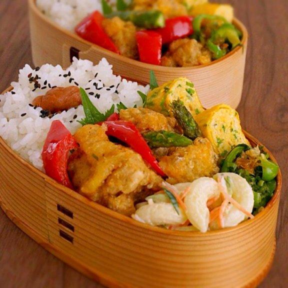 2014/4/3 毎日ときどきお弁当memoと【鶏肉の塩こしょう卵揚げのつくり方】