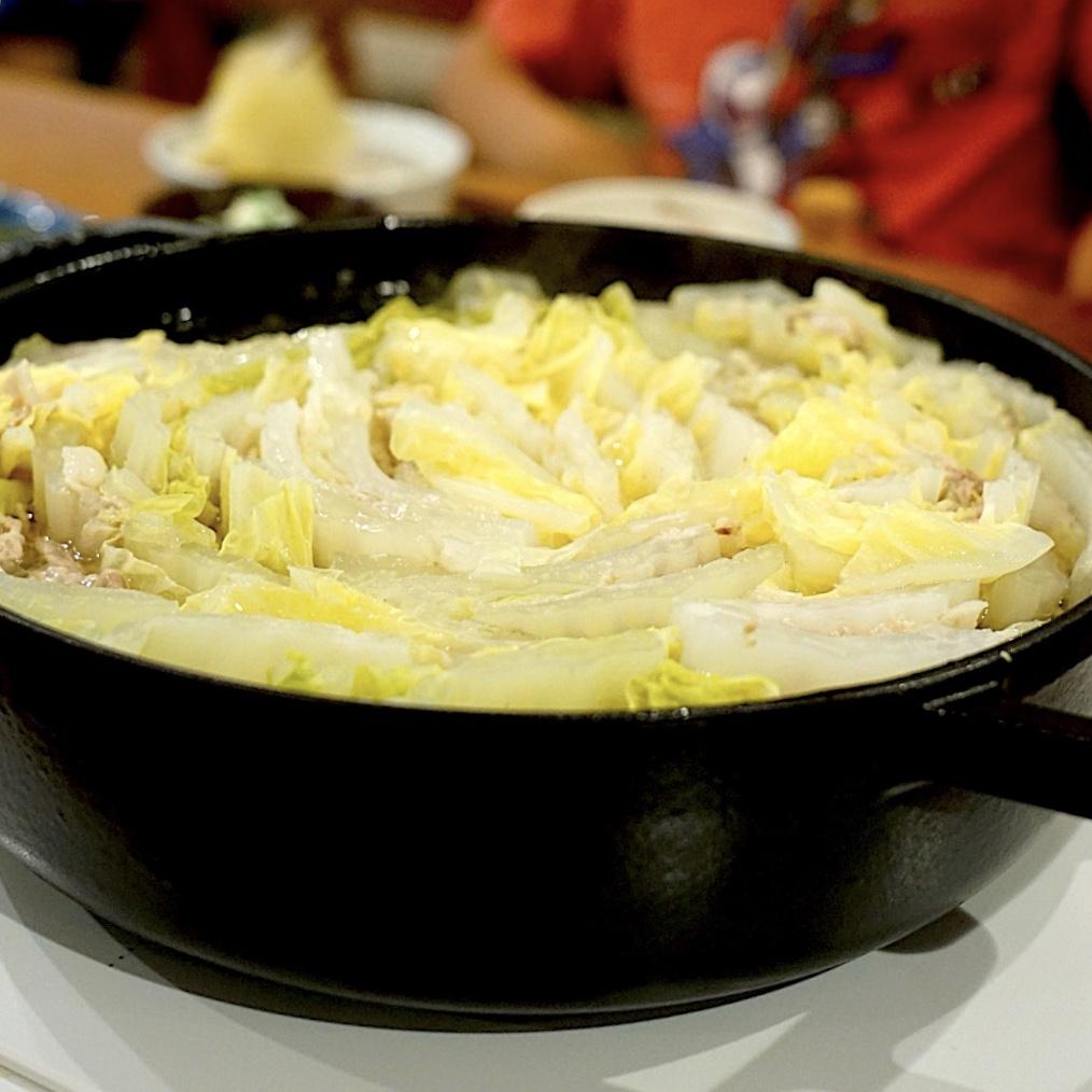 きのうの献立メモ。白菜と豚ばら肉のミルフィーユ鍋(2019.6.15)
