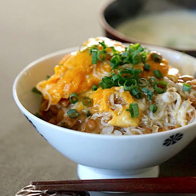 納豆しらすたまご焼きご飯