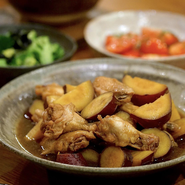 鶏手羽とさつまいもの煮物